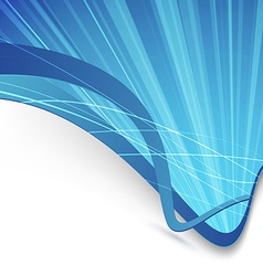 Abstract background with rays and waves vector image vector image