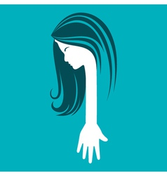 Beauty and fashion icon with hand vector image vector image
