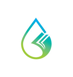 droplet data paper logo vector image vector image
