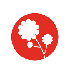 flower plant natural icon vector image