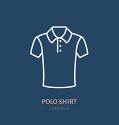 polo shirt icon clothing shop line logo flat vector image vector image