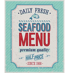 seafood color vector image vector image