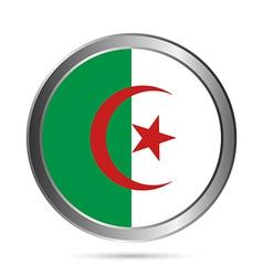 Algeria flag button vector image vector image