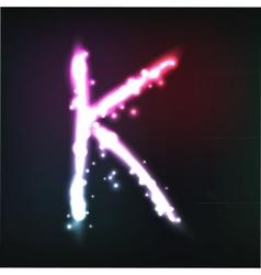 alphabet Neon letter vector image vector image