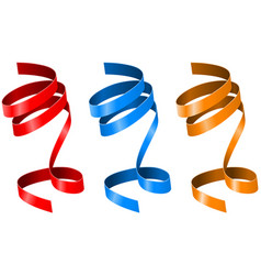 curled ribbons colored collection vector image