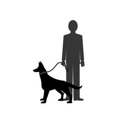 dog and man vector image