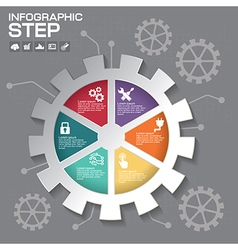 Gear info graphic design Business concept design vector image vector image