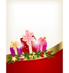 Merry Christmas Card Template vector image vector image