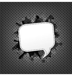 Metal Background With Speech Bubble vector image vector image