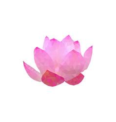 polygonal lotos flower vector image