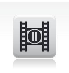 stop video icon vector image vector image