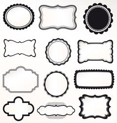 frame labels Set vintage vector image vector image