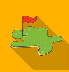 golf course icon in flat style isolated on white vector image vector image