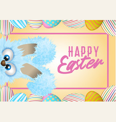 happy easter greeting card with painted or vector image
