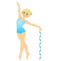 smiling gymnast vector image