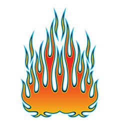 tribal hotrod muscle car flame kit for car hoods vector image