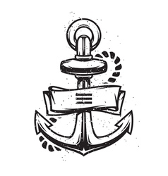 Vintage anchor vector image vector image