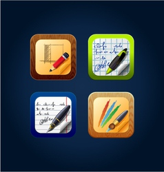 app icon drawing tools vector image vector image