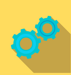 gear mechanism icon in flat style vector image