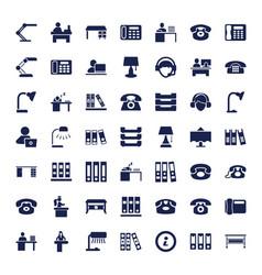 49 desk icons vector