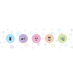5 swimwear icons vector