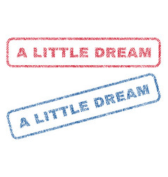 A little dream textile stamps vector
