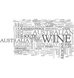 Australian wines text word cloud concept vector