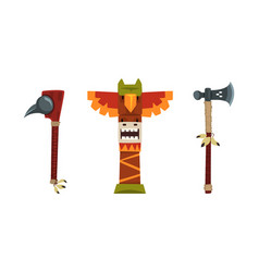 authentic items and tools native american vector image
