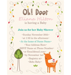 Baby-Shower Oh-Deer vector image