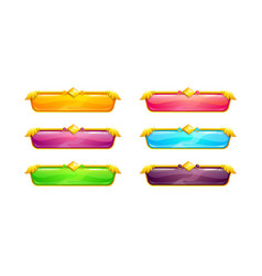 beautiful colorful long horizontal buttons vector image