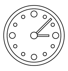 Big wall clock icon outline style vector