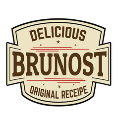 brunost grunge rubber stamp vector image