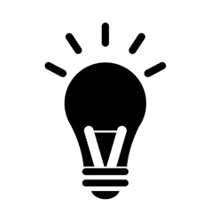 Bulb idea intelligence light design vector