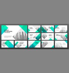 Business presentation templates set vector