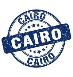 Cairo blue grunge round vintage rubber stamp vector