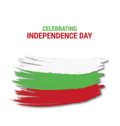 celebtraing bulgaria independence day vector image