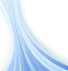 Certificate with blue abstract waves vector