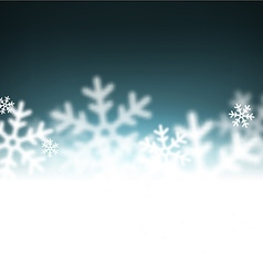 Christmas background with defocused snowflakes vector image vector image