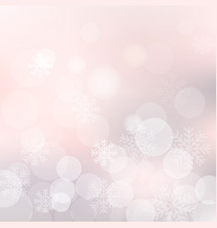 christmas background with snowflakes and vector image