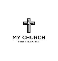 church cross sign vector image