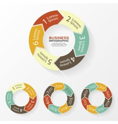Circle arrows infographic diagram steps vector