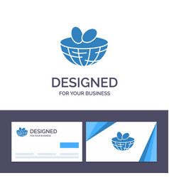 creative business card and logo template eggs vector image