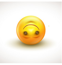 cute upside down face emoticon emoji vector image