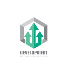 development - business logo template vector image