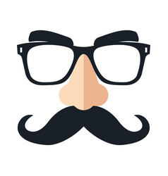 disguise mask funny glasses vector image