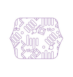 Dotty shape quadrate with graphic memphis style vector