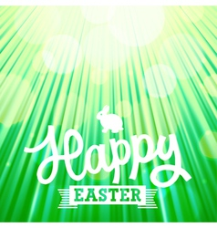 easter background rays green vector image