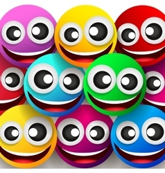 Emoticons colorful smile vector