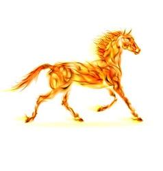 Fair Horse Run W 02 vector image