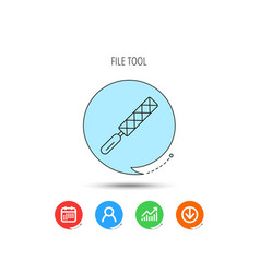 file tool icon carpenter equipment sign vector image